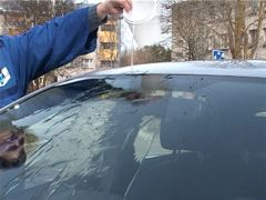 Testing protected car glass