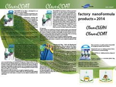 Factory nanoFormula products • 2014: CleverCLEAN/CleverCOAT