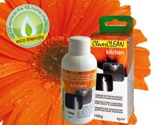 100g bottle in box CleverCLEAN for kitchen. Bar code: 4742692000505