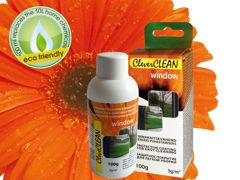 100g bottle in box CleverCLEAN for window. Bar code: 4742692000536