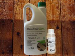 1.3kg CleverCOAT wood premier and stain additive bottle