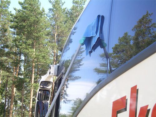 Bus windshield protection
