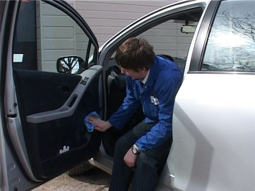 Protected car door