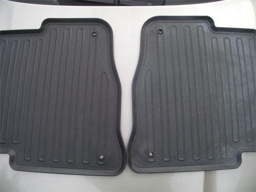 Treated (left) and untreated (right) rubber mats
