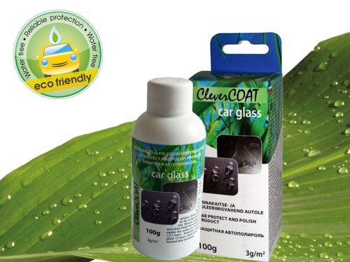 100g bottle in box CleverCOAT for car glass. Bar code: 4742692000543