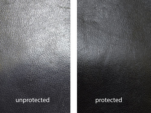 Untreated / treated leather