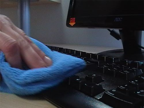Computer keyboard cleaning