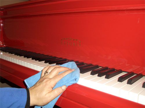Cleaning up a piano