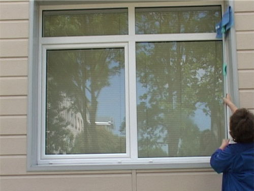 Protected window glass