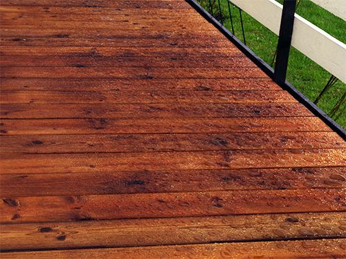 Terrace covered with CleverCOAT wood finish