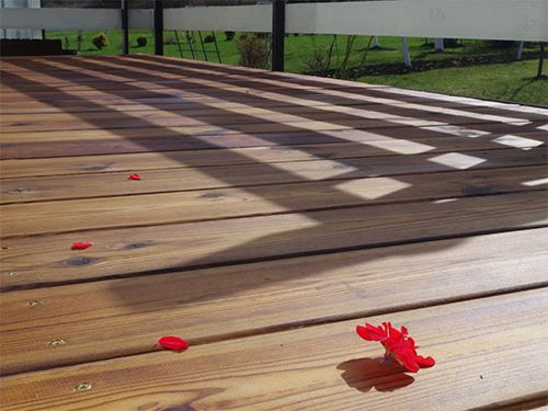 Terrace after the final coating with CleverCOAT wood finish