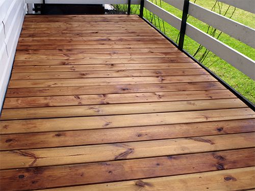 Terrace covered with CleverCOAT wood premier