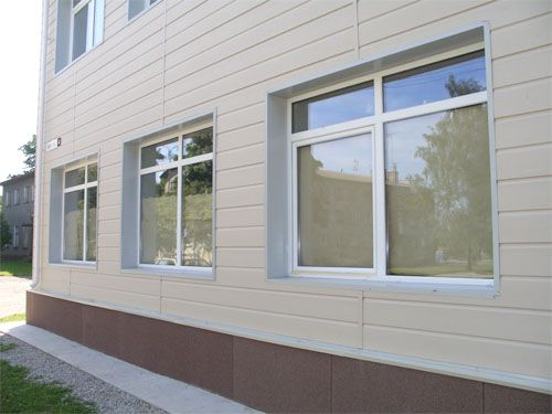 Protected with a composition contained nano titanium dioxide the windows of a building