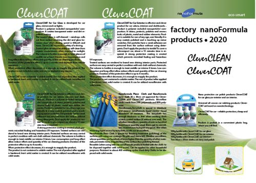 CleverCLEAN/CleverCOAT booklet